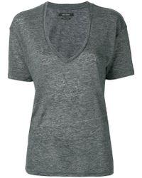 Isabel Marant - Deep V-neck T-shirt - Lyst