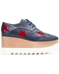Stella McCartney - Ruby Star Elyse Flatform Shoes - Lyst
