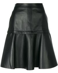 Neil Barrett - Pleated A-line Skirt - Lyst
