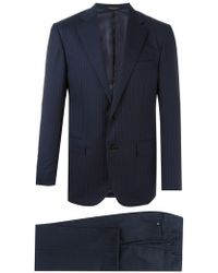 Corneliani - Dark Blue Super 160's Wool Suit - Size 42 - Lyst