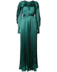 Self-Portrait - Pleated Maxi Dress - Lyst