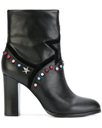 Frankie Morello - Studded Ankle Boots - Lyst