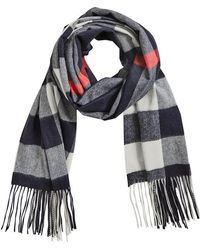 Burberry - Oversize Check Cashmere Scarf - Lyst