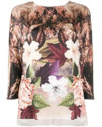 Clips - Floral Printed Blouse - Lyst