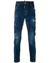 DSquared² - Slim Fit Paint Splatter Jeans - Lyst