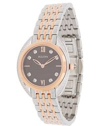 Bulova - Diamond Two-tone Bracelet Watch - Lyst
