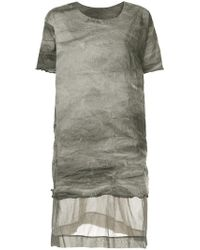 Uma Wang - Panelled Longline T-shirt - Lyst