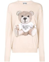 Moschino - Toy Bear Fine Knit Sweater - Lyst