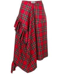 Preen By Thornton Bregazzi - Morgan Tartan Asymmetric Skirt - Lyst