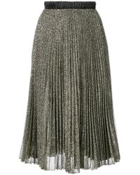 Loyd/Ford - Pleated Glitter Skirt - Lyst