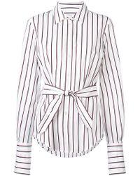 10 Crosby Derek Lam - Long Sleeve Button-down Shirt With Waist Ties - Lyst