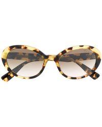 7de95c6915be Miu Miu Rasoir Mu 11os 1ab1f2 Black Plastic Cat Eye Sunglasses Green ...