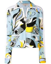 Emilio Pucci - Abstract Print Fitted Jacket - Lyst