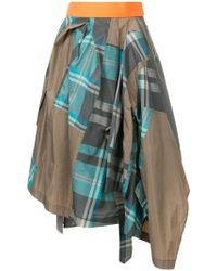 Kolor - Patchwork Napkin Skirt - Lyst