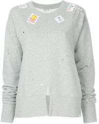 AALTO - Distressed Patch Sweatshirt - Lyst