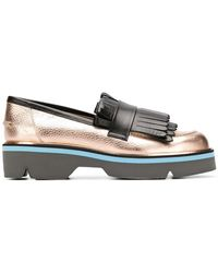 Pollini - Fringed Loafers - Lyst