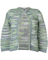 M Missoni - Crochet 3/4 Sleeve Cardigan - Lyst