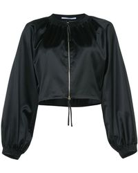 Rosetta Getty - Zipped Cropped Jacket - Lyst