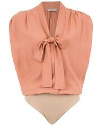 Egrey - Bow Detail Bodysuit - Lyst