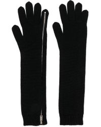 DSquared² - Zipped Knit Gloves - Lyst