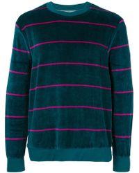Stussy - Striped Velvet Sweatshirt - Lyst