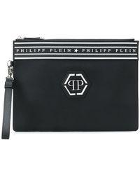 Philipp Plein - Logo Patch Clutch Bag - Lyst
