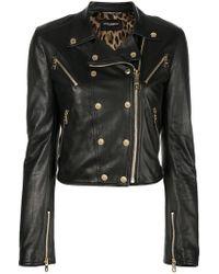 Dolce & Gabbana - Veste de moto en peau d'agneau - Lyst