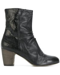 Ink - Zipped Ankle Boots - Lyst
