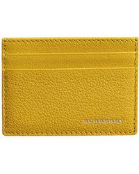 Burberry - Grainy Leather Card Case - Lyst