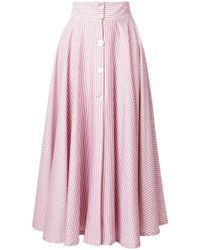 JOUR/NÉ - Striped A-line Skirt - Lyst