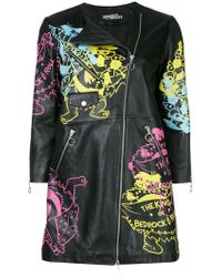 Jeremy Scott - Printed Zipped Coat - Lyst