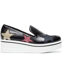 Stella McCartney - Black Binx Star Print 45 Leather Platforms - Lyst