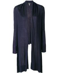 DKNY - Long Fine-knit Cardigan - Lyst