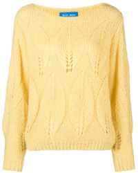 M.i.h Jeans - Lacey Leaf Knit Sweater - Lyst