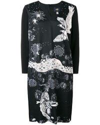 Class Roberto Cavalli - V-neck Eagle Print Dress - Lyst