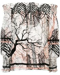 Yigal Azrouël | Off-shoulder Patterned Blouse | Lyst