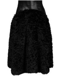 Plein Sud - Contrast Panel Skirt - Lyst