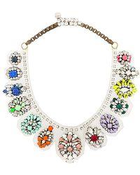 Shourouk - Rainbow Necklace - Lyst