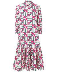 LaDoubleJ - Dropped Waist Geometric Print Dress - Lyst