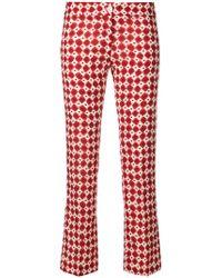 MeMe London   Printed Slim-fit Trousers   Lyst