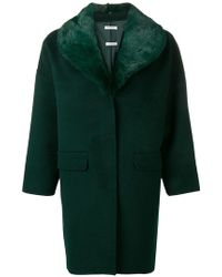 P.A.R.O.S.H. - Fur Collar Coat - Lyst