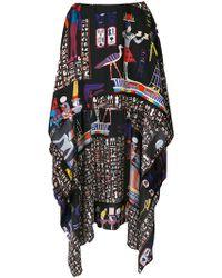 Jean Paul Gaultier - Hieroglyph Printed Mullet Skirt - Lyst