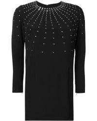 John Richmond - Stud Embellished Mini Dress - Lyst