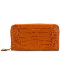 L'Autre Chose Crocodile Embossed Wallet - Orange