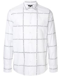 Loveless - Logo Print Fitted Shirt - Lyst