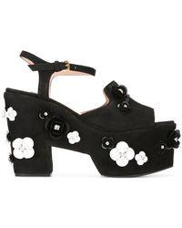 Boutique Moschino - Embellished Platform Sandals - Lyst