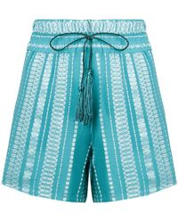 Zeus+Dione - Embroidered Shorts - Lyst