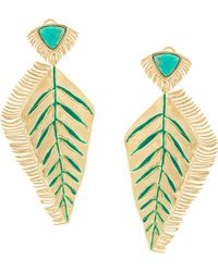 Aurelie Bidermann - Feather Earrings - Lyst