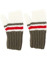 Maison Margiela - Striped Panel Gloves - Lyst