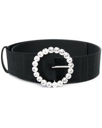 Attico - Crystal Embellished Buckle Belt - Lyst